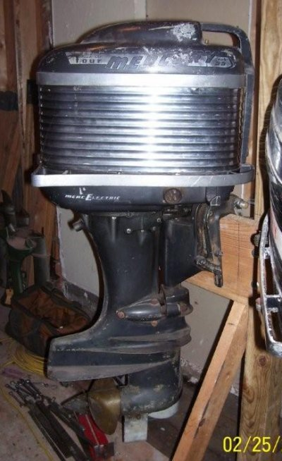 Vintage Mercury Mark 55e Outboard Motor For Sale